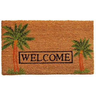 "Palm Welcome-Coir with Vinyl Backing Doormat (17"" x 29"")"