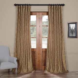 Exclusive Fabrics Alexandria Gold Faux Taffeta Silk Curtain Panel