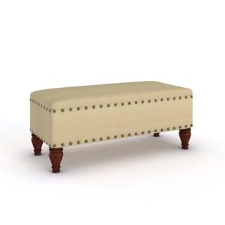 Porch & Den Los Feliz Finley Upholstered Storage Bench with Nailhead Trim
