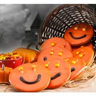 Happy Halloween Orange Cookies