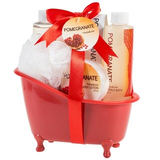 Freida and Joe Pomegranate Tub Bath 5-piece Gift Set