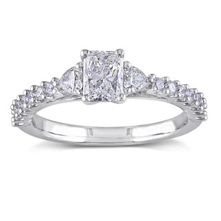 Miadora Signature Collection 14k White Gold 1ct TDW Radiant Cut Diamond Ring (G-H, I1-I2)