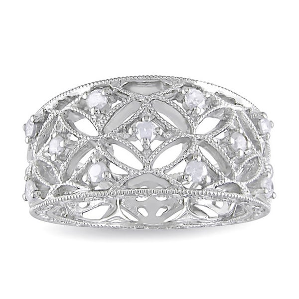 Miadora Sterling Silver 1/4ct TDW Diamond Band-style Ring (H-I, I2-I3)