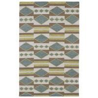Flatweave TriBeCa Handmade '' Multicolor Wool Rug - 5' x 8'
