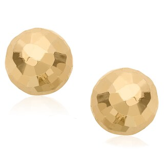 Gioelli 14k Gold 8-mm Hammered Ball Earrings (3 options available)