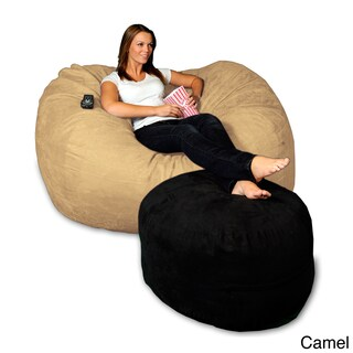 5-foot Memory Foam Micro Suede Beanbag Chair Lounger (More options available)