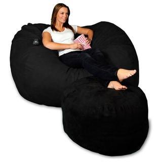 5-foot Memory Foam Micro Suede Beanbag Chair Lounger