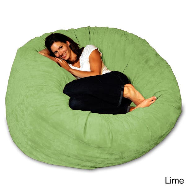 Pleasant Shop 5 Foot Memory Foam Bean Bag Chair On Sale Free Dailytribune Chair Design For Home Dailytribuneorg