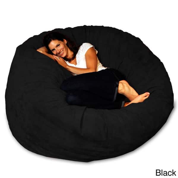 Fantastic Shop 5 Foot Memory Foam Bean Bag Chair On Sale Free Onthecornerstone Fun Painted Chair Ideas Images Onthecornerstoneorg