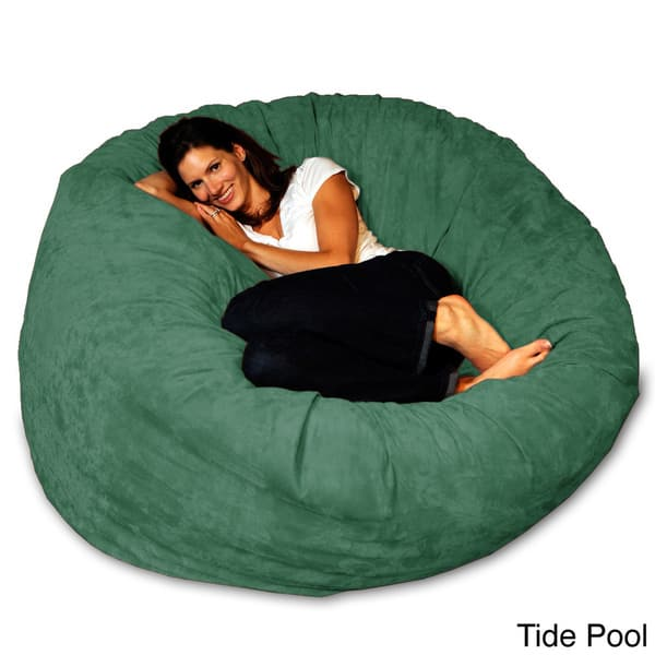 Peachy Shop 5 Foot Memory Foam Bean Bag Chair On Sale Free Onthecornerstone Fun Painted Chair Ideas Images Onthecornerstoneorg