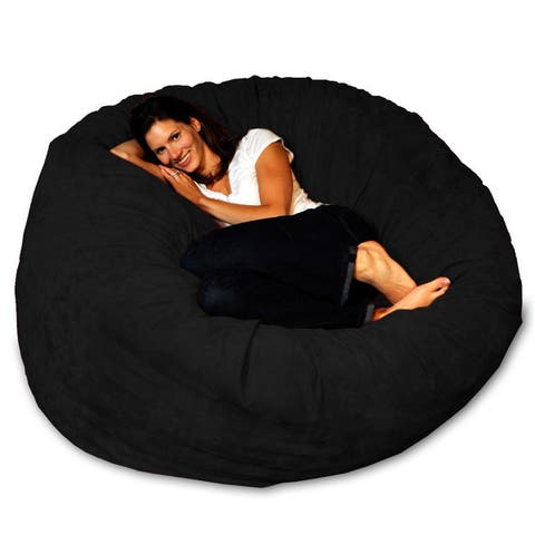 5-foot Memory Foam Micro-Suede Bean Bag Chair