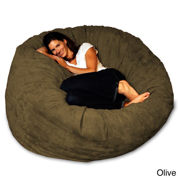 Remarkable Shop 5 Foot Memory Foam Bean Bag Chair On Sale Free Theyellowbook Wood Chair Design Ideas Theyellowbookinfo