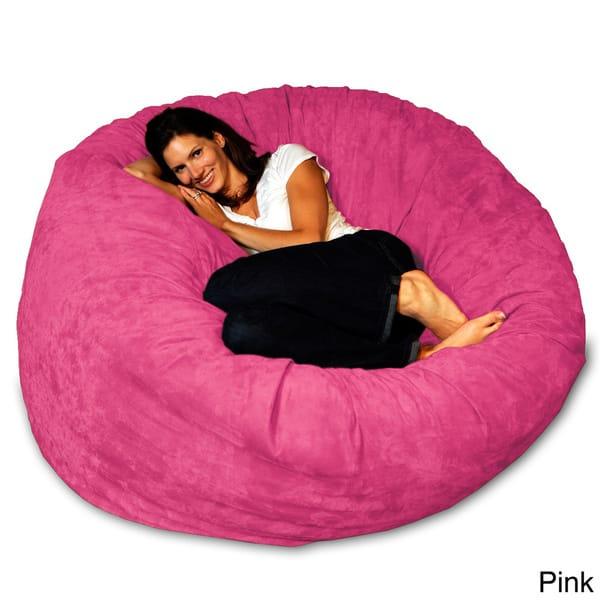 Incredible Shop 5 Foot Memory Foam Bean Bag Chair On Sale Free Evergreenethics Interior Chair Design Evergreenethicsorg