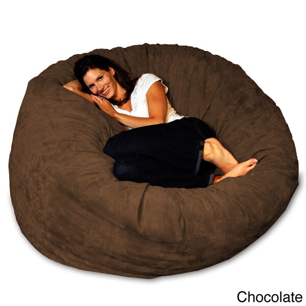 5-foot Memory Foam Bean Bag Chair - Free Shipping Today - Overstock.com -  15774676 - 5-foot Memory Foam Bean Bag Chair - Free Shipping Today