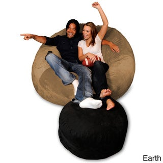 6-foot Memory Foam Bean Bag Chair (Earth Micro Suede - Jumbo)
