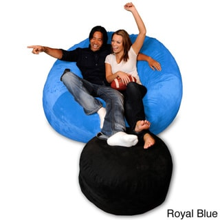 6-foot Memory Foam Bean Bag Chair (Royal Blue Micro Suede - Jumbo)
