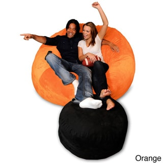 6-foot Memory Foam Bean Bag Chair (Orange Micro Suede - Jumbo)
