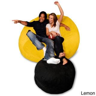 6-foot Memory Foam Bean Bag Chair (Lemon Micro Suede - Jumbo)