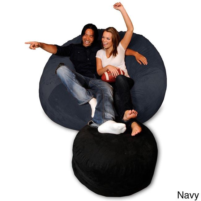Pleasing Details About 6 Foot Memory Foam Bean Bag Chair Alphanode Cool Chair Designs And Ideas Alphanodeonline