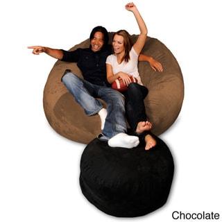 6-foot Memory Foam Bean Bag Chair (Chocolate Micro Suede - Jumbo)