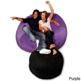 6-foot Memory Foam Bean Bag Chair (Purple Micro Suede - Jumbo)