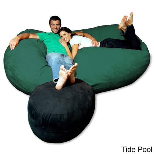 Remarkable Shop Soft Memory Foam Microsuede 7 5 Foot Beanbag Chair Ncnpc Chair Design For Home Ncnpcorg