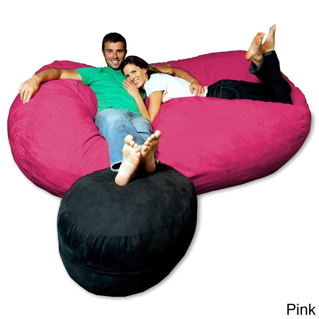 De S About Soft Memory Foam Microsuede 7 5 Foot Beanbag Chair Lounger