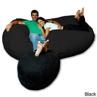 7.5-foot Soft Memory Foam Micro Suede Beanbag Chair Lounger