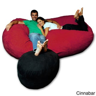 7.5-foot Soft Memory Foam Micro Suede Beanbag Chair Lounger