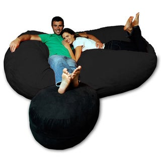 Soft Memory Foam Microsuede 7.5-foot Beanbag Chair Lounger