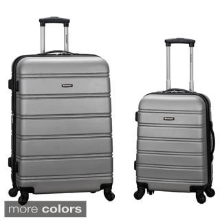 Rockland Melbourne 2-piece Expandable Hardside Spinner Luggage Set