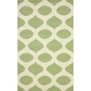 nuLOOM Hand-hooked Modern Trellis Green Rug (5' x 8')