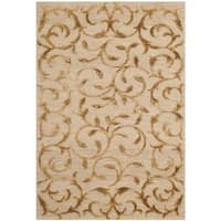 Safavieh Hand-knotted Tibetan Scrolling Vines Gold Wool/ Silk Rug - 3' x 5'