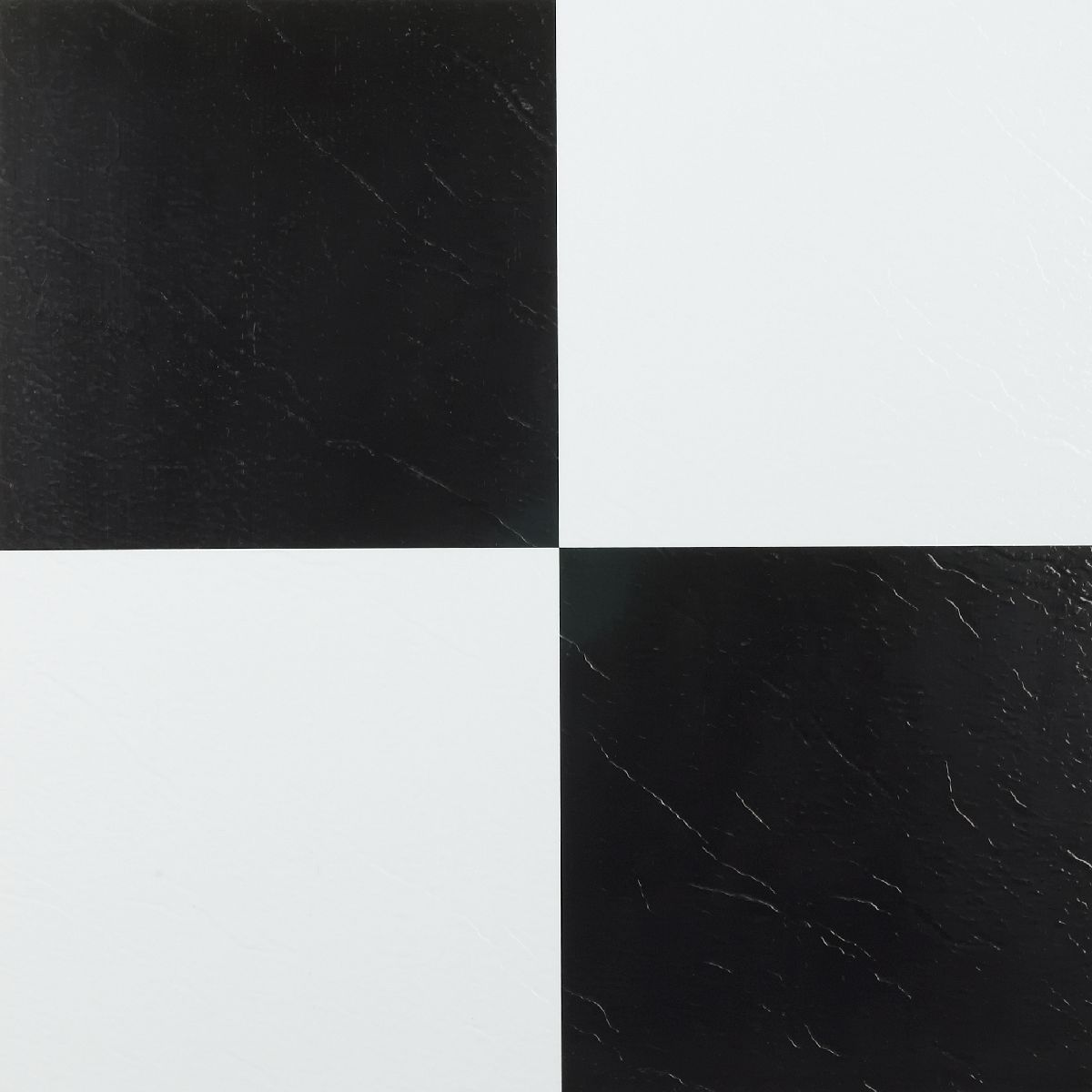 Achim Nexus Black and White Self Adhesive Vinyl Floor Til...