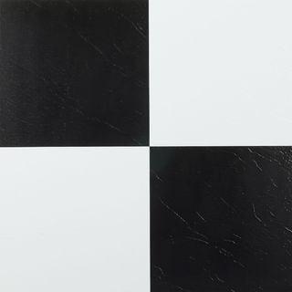 Achim Nexus Black  amp  White 12x12 Self Adhesive Vinyl Floor Tile   20 Tiles 20 sq Ft. Top Product Reviews for Achim Nexus Black  amp  White 12x12 Self