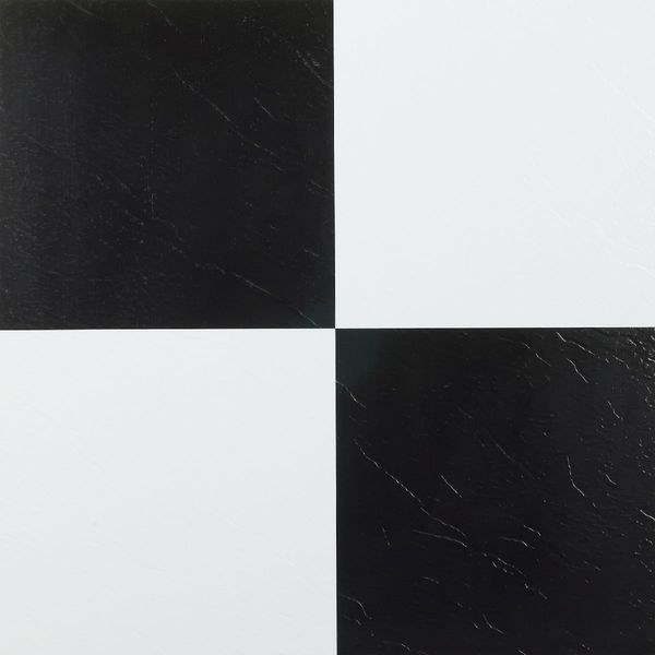 Shop Achim Nexus Black White X Self Adhesive Vinyl Floor Tile - Black and white square vinyl flooring