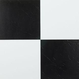 Achim Nexus Black and White Self Adhesive Vinyl Floor Tile (Set of 20)