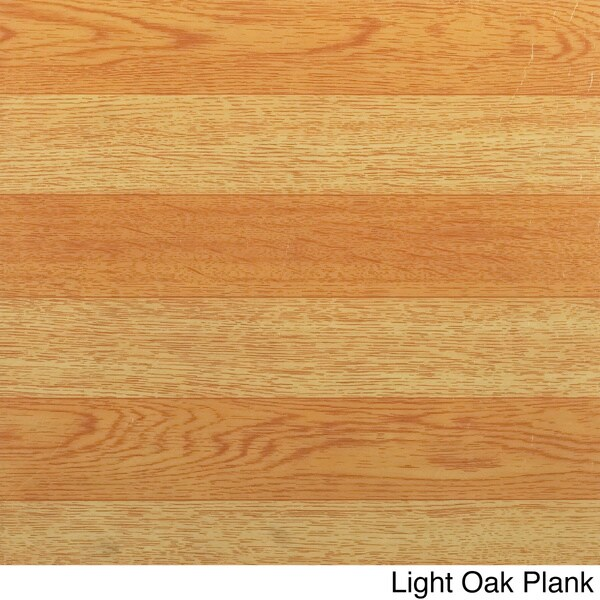 Light Oak Plank Wood Self Stick Adhesive Vinyl Floor Tiles: Achim Nexus Wood-Look 12x12 Self Adhesive Vinyl Floor Tile
