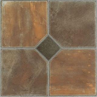 Achim Nexus Rustic Slate 12x12 Self Adhesive Vinyl Floor Tile - 20 Tiles/20 sq Ft.