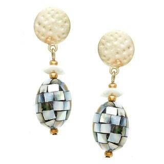 Alexa Starr Mosaic Shell Earrings