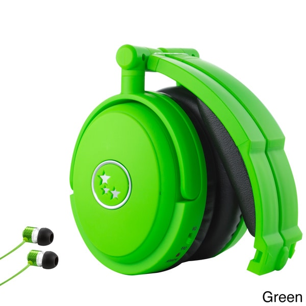 Able Planet Foldable Noise Canceling Headphone with Matching Sound Isolation Earphone