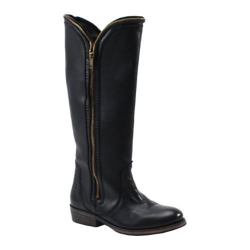 Women's Bronx Try Umph Black Shiny Cow Leather/Lizard Leather