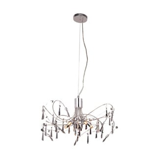 Somette Grandcour 5-light Royal Cut Crystal and Chrome Pendant