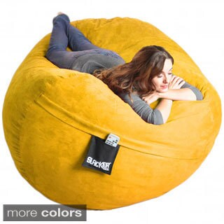 Slacker Sack Oval Microsuede and Memory Foam Bean Bag (3 options available)
