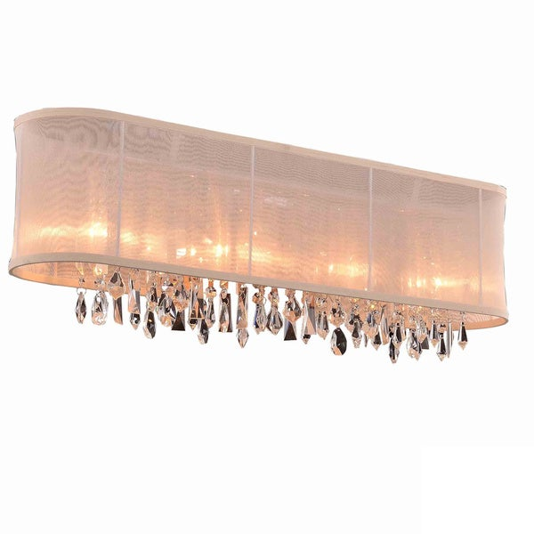 Somette Bienne Royal Cut Crystal and Chrome 4-light Wall Sconce