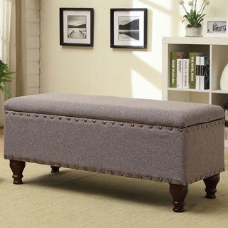 homepop nail head trim storage bench