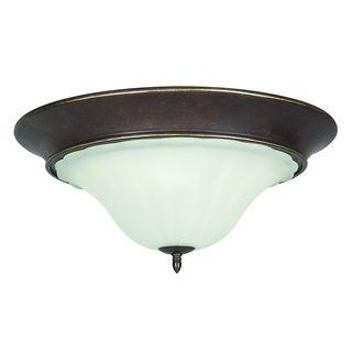 Wingate 3-light Black Onyx Flush Mount