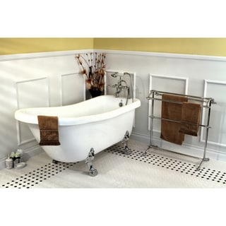 Link to Vintage Collection 67-inch Acrylic Slipper Clawfoot Tub and Faucet Pack Similar Items in Bathtubs