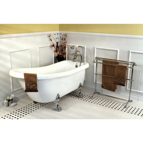 Vintage Collection 67-inch Acrylic Slipper Clawfoot Tub and Faucet Pack