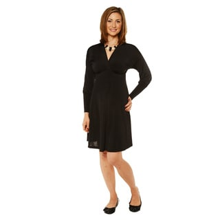 24/7 Comfort Apparel Women's Long Sleeve Empire Dress